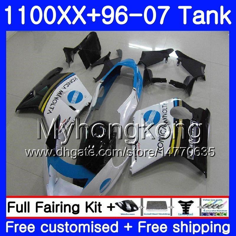 + KONICA azul nuevo Tanque para HONDA Blackbird CBR 1100XX CBR1100 XX 02 03 04 05 06 07 271HM.27 CBR1100XX 2002 2003 2004 2006 2006 2007