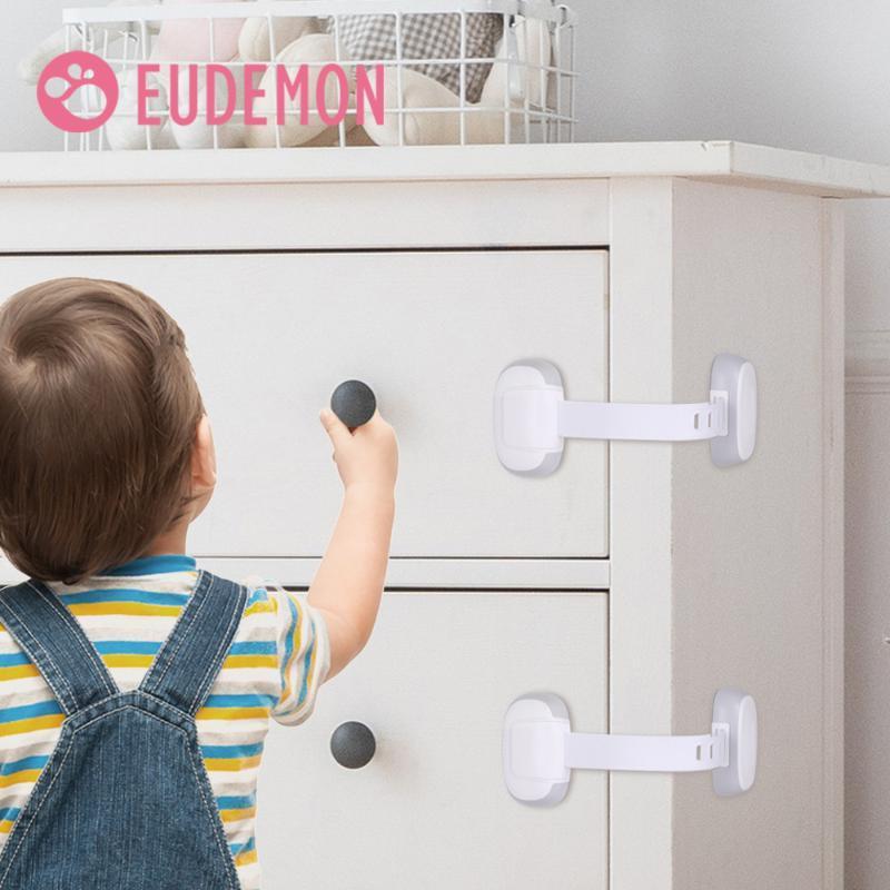 Prueba de seguridad para niños Eudemon Gabinete de bloqueo del bebé Seguridad Puerta del protector del gabinete del cajón bloqueo de la protección de los niños de plástico de seguridad de la puerta Loc