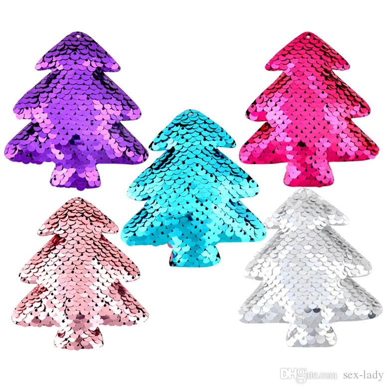 Fashion Cute Christmas Tree Design Scales Sequins Hair Bow Women Hairpins Girl Hair Clips Kids Headwear Accessories