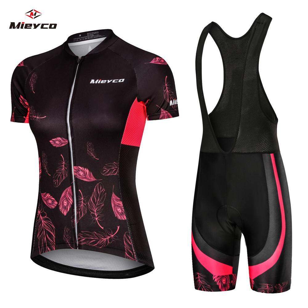 كودوباي2020 صيفي Womens Cycling Jersey Bib Sets Wear Racing Bych Clothes Femino Bicycle Clothes Riding Uniform