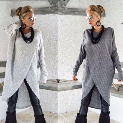 Le donne goccia di modo Abiti Abbigliamento Donna signore Solid New Woman Lady Felpa pullover superiore femminile abito per trasporto di buona qualità