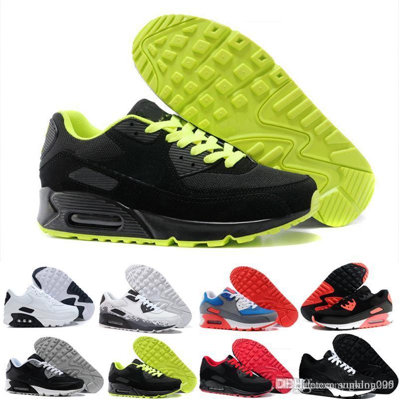 nike air max 90 airmax  2019 Off Chaussures De Course Baskets Hommes Homme Desert Ore Vert Tennis Créateurs De Mode occasionnels Classique Zapatilla Formation Chaussures