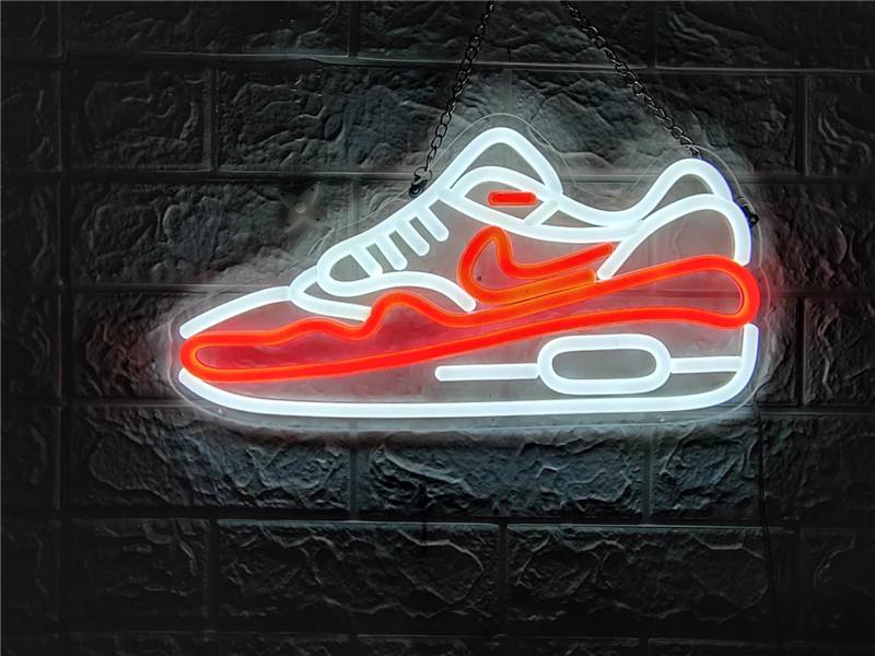 """LED SHOES TN008 NOW OPEN NEON SIGN HANDICRAFT LIGHT BEER BAR PUB REAL GLASS TUBE LOGO ADVERTISEMENT DISPLAY NEON SIGNS 17""""/19""""/24''"""