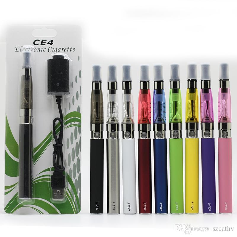 مجموعات السجائر الإلكترونية الأنا كاتب CE4 نفطة عدة مع CE4 البخاخة و 650 900 1100 مللي أمبير بطارية الأنا لون مختلف شحن مجاني