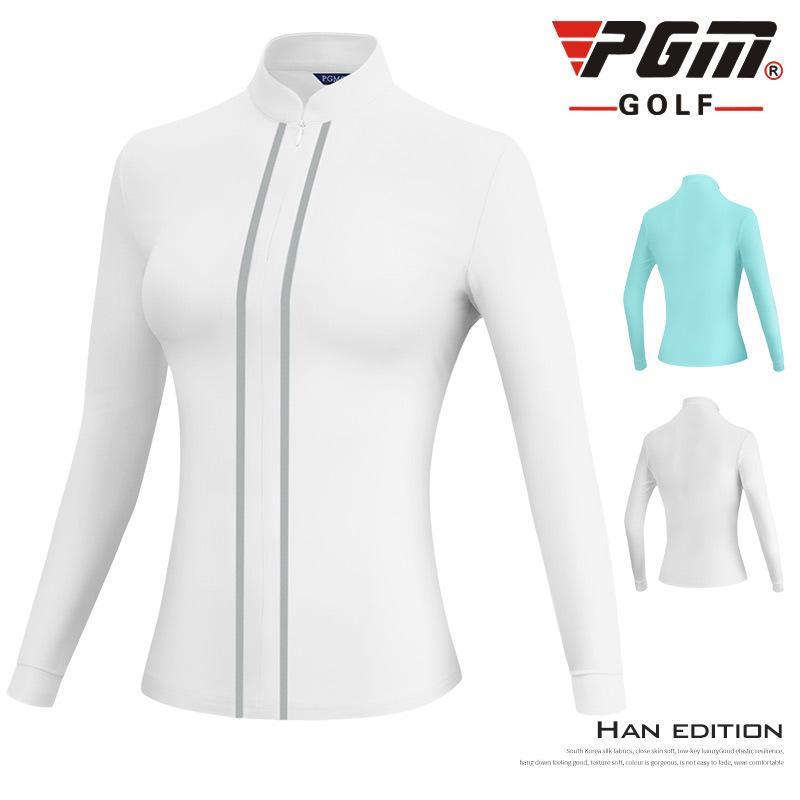 PGM femmes veste à manches longues Golf d'hiver chaud coupe-vent dames manteau pied de col Fermeture éclair Vêtements de golf de formation D0800