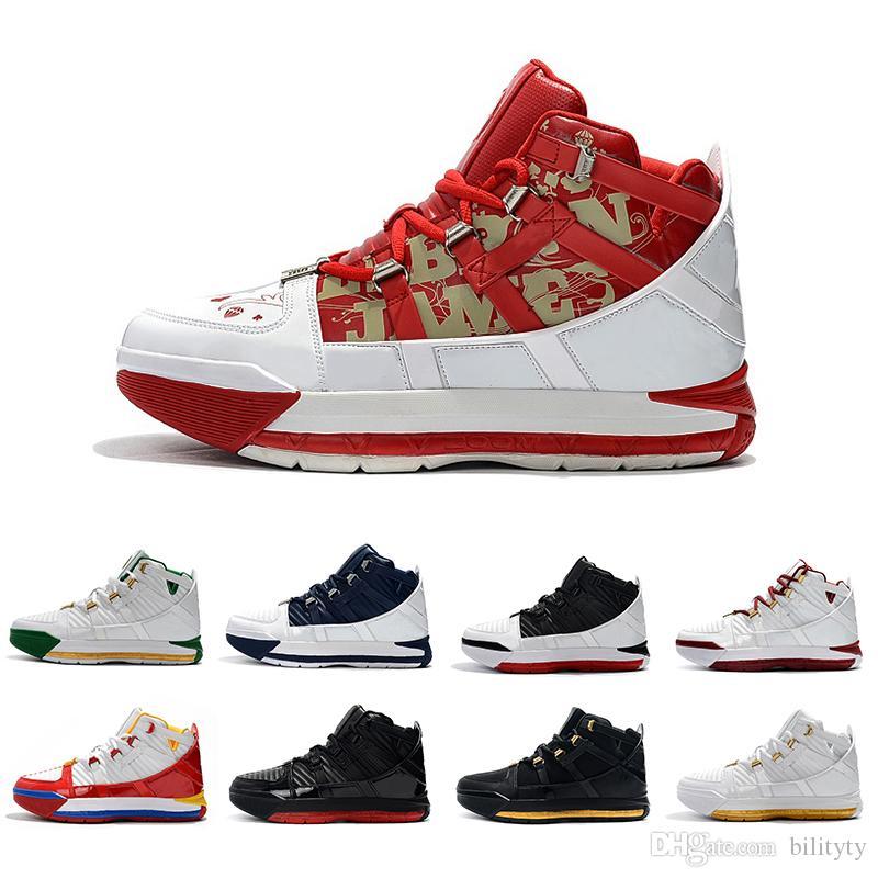 Nova Basquete QUENTE Fresco Produzido SuperBron James Black Remix Sapatos Oreo Martin Preto Dos Homens de ouro Macio formadores sports Sneakers 40-46