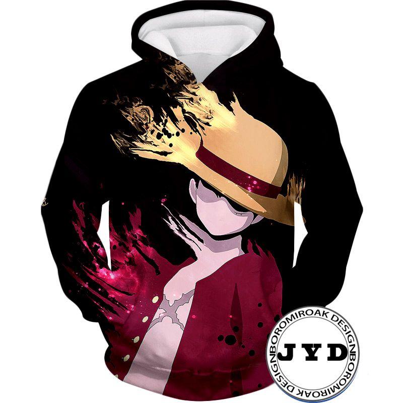Луффи толстовка 3D печатных Луффи Хэллоуин костюм свитер пуловер мужчины мужские свитера аниме джемперы пуловеры трикотажные изделия О-образным вырезом S-5XL