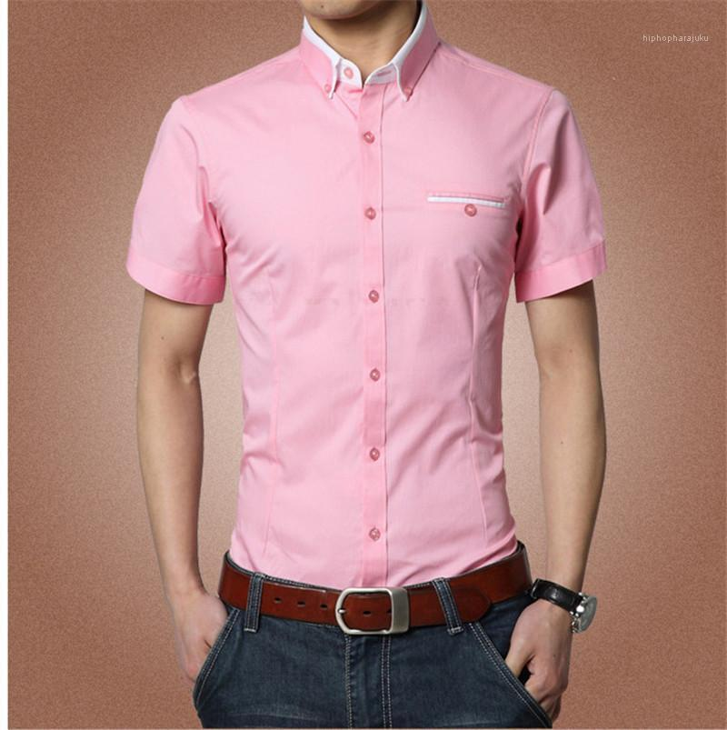 Hemd Chemise Homme Kurzarm Shirts Dünne Teenager Männliche Kleidung Herren Designer Einfarbig Hemd Camicie Da Uomo Kurze