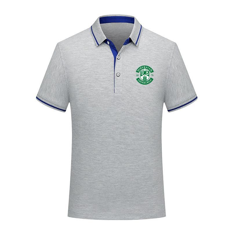 2020 Hibernian fc Futbol Tişört Futbol Kısa Kollu polos Moda Spor eğitimi Polos Futbol Futbol Tişört Jersey Erkekler Polos