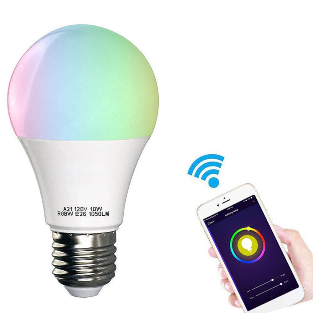 Alexa / Amazon Echo와 Google 가정을 위해 똑똑한 LED 전구 다채로운 음성 통제 Dimmable 거실, 침실을 위해 적당한