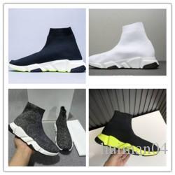 Designer Sneakers Speed Trainer Nero Rosso Gissola Triple Nero piana di modo Calzino Stivali Casual Shoes Speed Trainer Runner l0497