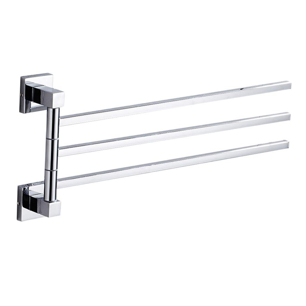 2pcs Bathroom Towel Rack Bath Storage Towel Holder Save Space For Bathroom