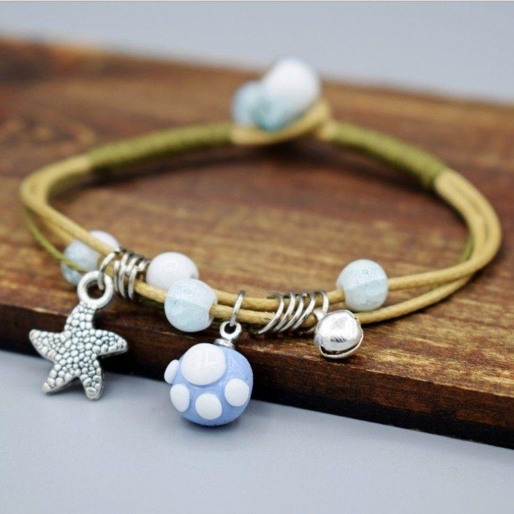 не Оптово модных керамических шариков браслеты браслет 19 стилей для вариантов фотомодель ювелирных изделий нет. NE931-1