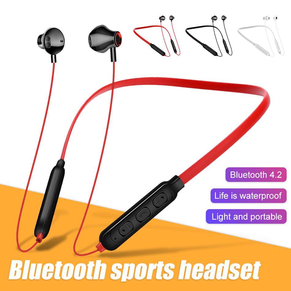 G02 بلوتوث اللاسلكية شريط حول ياقة الملابس سماعات الأذن ايفي سماعة سماعات الرياضة المغناطيسي مع التحكم بحجم الصوت للالعالمي XIAOMI هواوي في صندوق البيع بالتجزئة