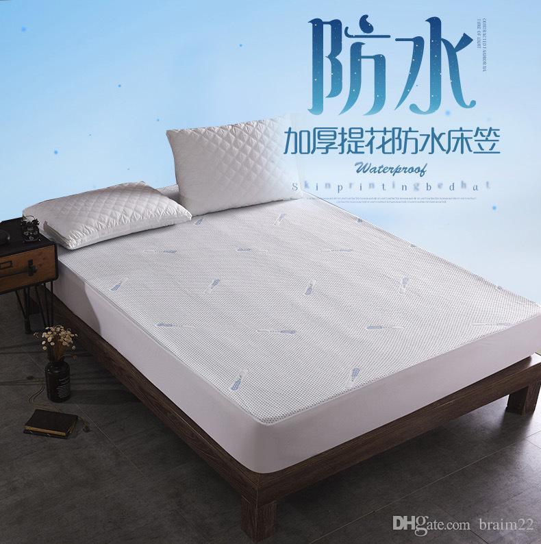 OEM örme jakarlı kumaş yatak koruyucu su geçirmez bebek yatak örtüsü serin jakarlı su geçirmez mite geçirmez yatak örtüsü yaz aylarında