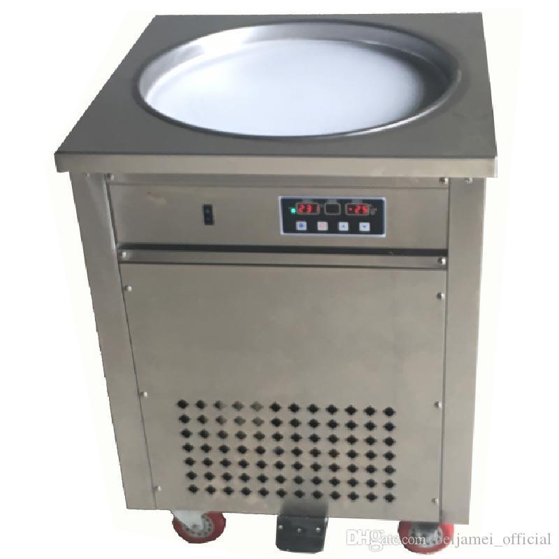 Máquina de helados comerciales BEIJAMEI / fabricante de helados de fruta frita de Tailandia fabricante de yogurt frito portátil de acero inoxidable