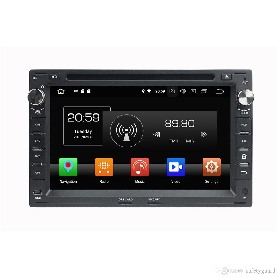 "Android 8.0 Octa Core 2 din 7"" Car DVD Radio GPS for VW Volkswagen Passat B5 Golf 4 Polo Bora Jetta Sharan T5 Bluetooth 4GB RAM 32GB ROM"