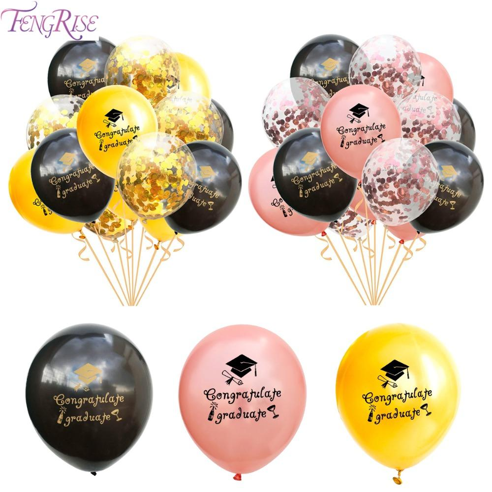 Fengrise Mezuniyet Balonlar Mezuniyet 2019 Balon Mezuniyet Partisi Dekor Balon Altın Baloons Konfeti Ballon Tebrikler