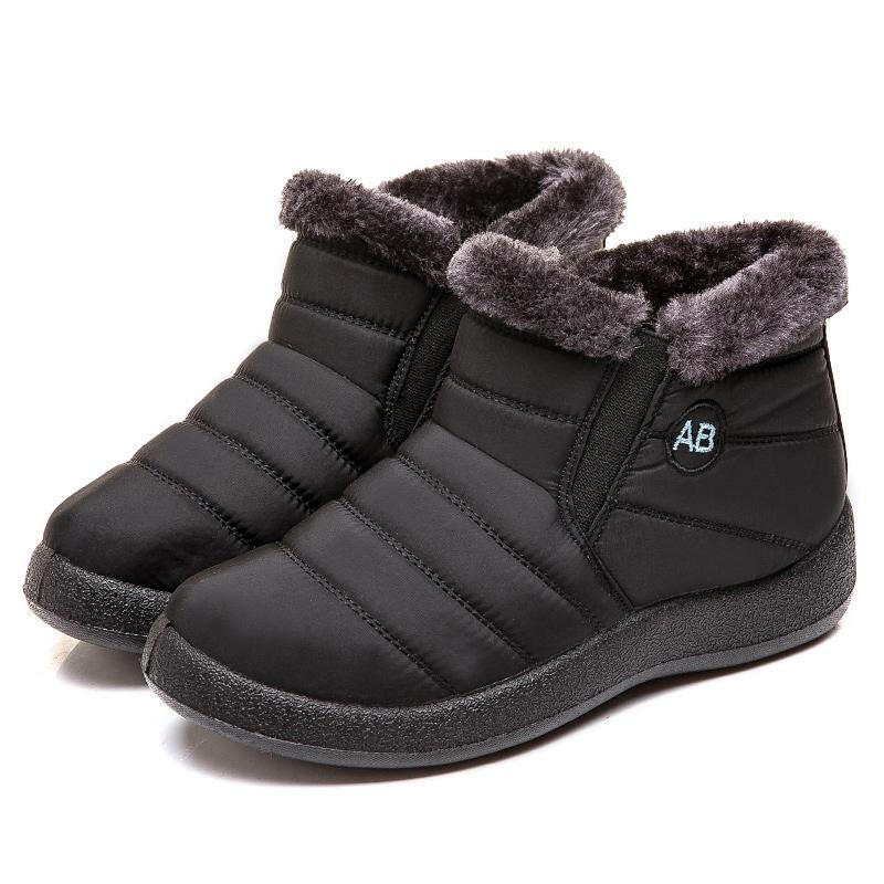 Frauen Stiefel 2019 Wasserdichte Schnee-Aufladungen plus Größe 43 Winterschuhe Women Casual Leichte Knöchel Botas Mujer Winter-weiblich