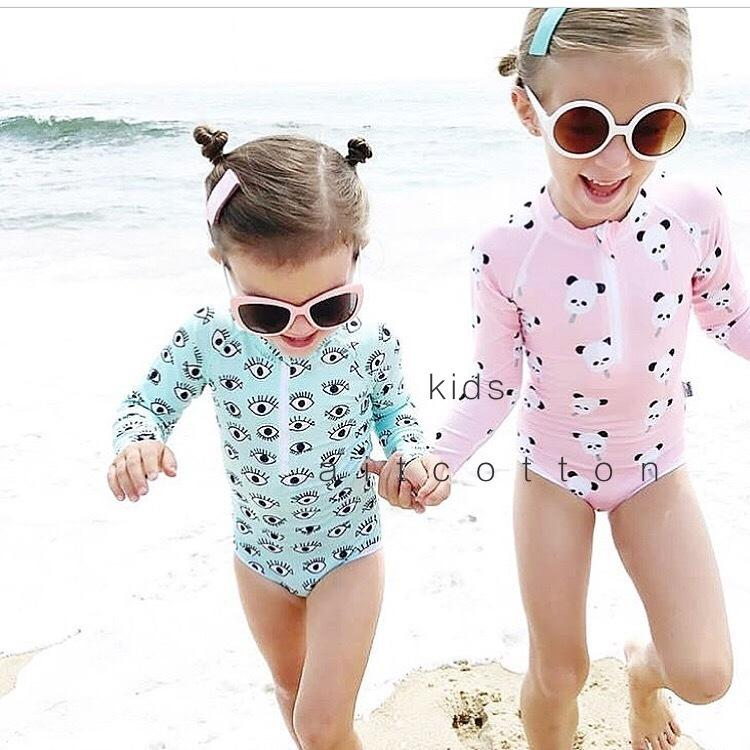 Toddler Baby Boys Swimsuits Cartoon One Piece Jumpsuit Summer Beach Zipper Short Sleeve Bathing Suit