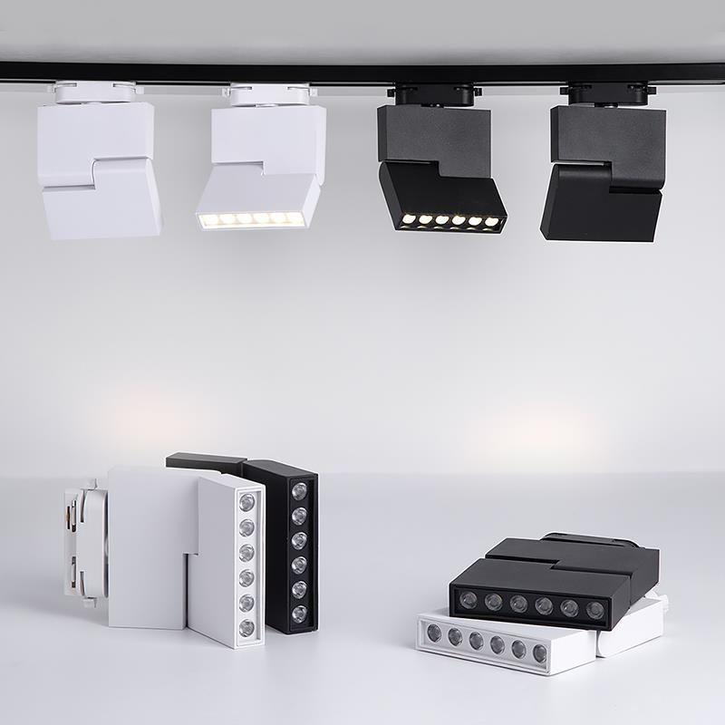 2/3/4 Tel LED Parça Işık 12W 85-265V Raylı Spot Modern Parça Işıklar Ayakkabı Mağazası Lambası Sergi Mağaza Aydınlatma
