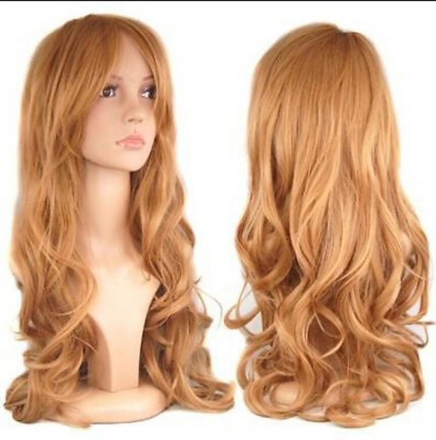 WIG free shipping New Long Mixed Straight Anime Cosplay wig Women's Wigs 39