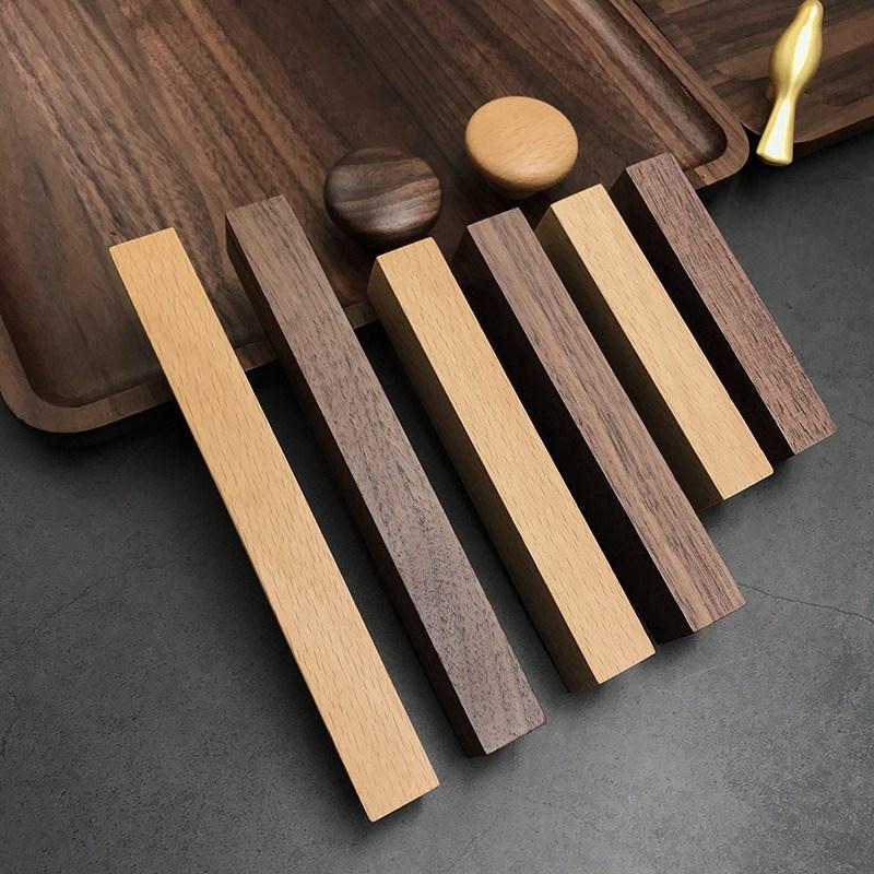Gabinete de madera de cajón Perillas de las manijas de madera sólida armario de la cocina Armario perillas de puertas y tiradores envío libre fijado