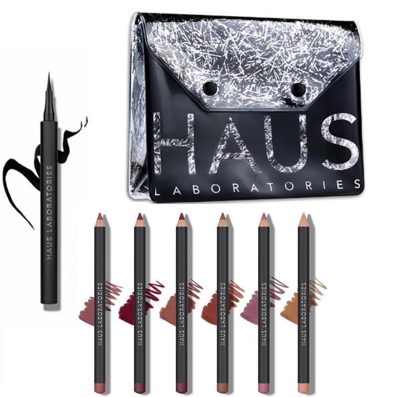 lipliners HAUS LABORATORIES 6 longwearing de color matices semimate ofrecen mística rip delineador de labios de vacaciones fijado por Lady gaga