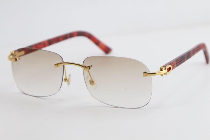 금속 무테는 판자 선글라스 T8100624 고양이 눈 Adumbral 선글라스 패션 높은 품질 태양 안경 남성과 Femal 격자 무늬 판매