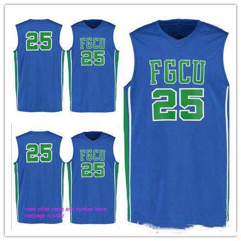 nach Maß # 25 Florida Gulf Coast Eagles Mann Frauen Jugend-Basketball-Trikots Größe S-5XL einen beliebigen Namen Nummer
