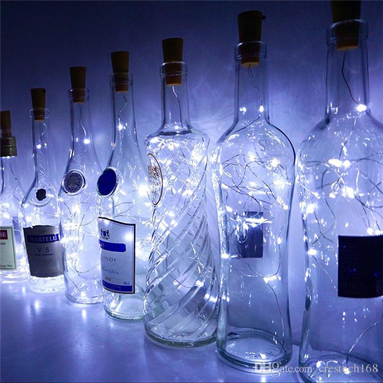 ضوء سلسلة مع سدادة زجاجة 2M 20leds زجاجة كورك على شكل النبيذ أضواء الديكور لAlloween عيد الميلاد عطلة الحزب