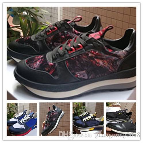Hommes Nouveau Populaire Marque Chaussures de course en cuir véritable de luxe de lacent Sport Flats Chaussures Flats Casual Shoes Taille 38-45 0d93