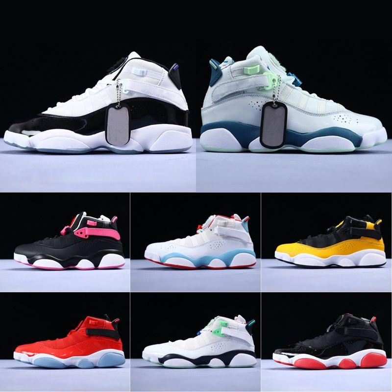2019 Мужские 6s Six Rings Баскетбольные кроссовки Кроссовки Jumpman Concord Bred Белый Ice Gym Красный конфетти Space Jam Man Классические кроссовки