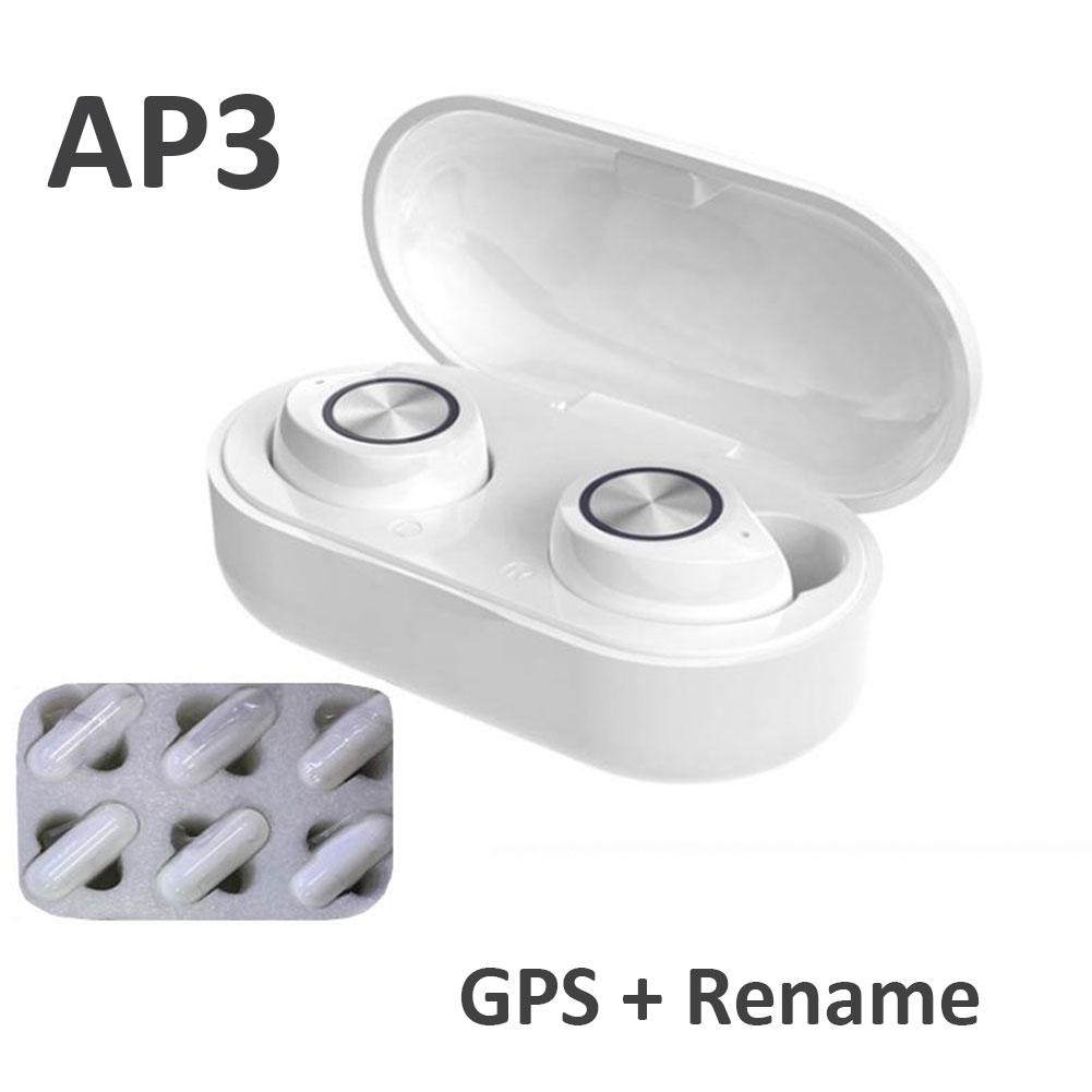 TWS 60 Renamed GPS AP2 AP3 Pro TWS Bluetooth 5.0 Earphones Earbuds Wireless Headsets 3D Sound Touch Control Stereo Sound H1 Chip 3rd Gen 3