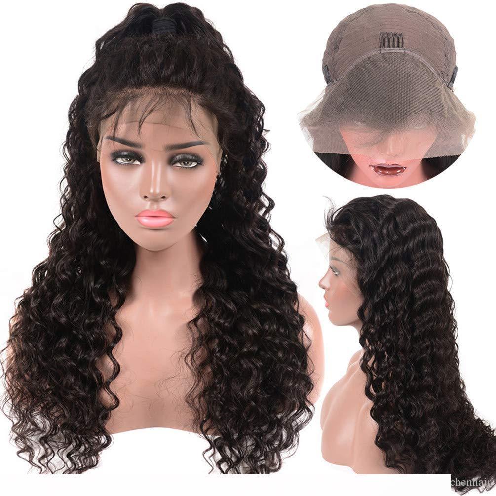 Lace Front parrucche umane dell'onda profonda Frontal del merletto parrucche Pre a pizzico con il bambino per donne di colore 150% Densità Remy
