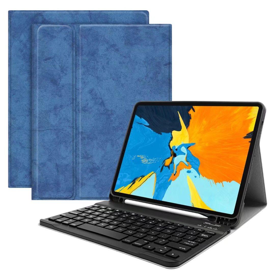 2 في 1 قابل للإزالة لوحة المفاتيح اللاسلكية بلوتوث + PU حقيبة جلد للحصول على أبل اي باد الموالية 11 2018Fashion حالة الصلبة مع لوحة المفاتيح