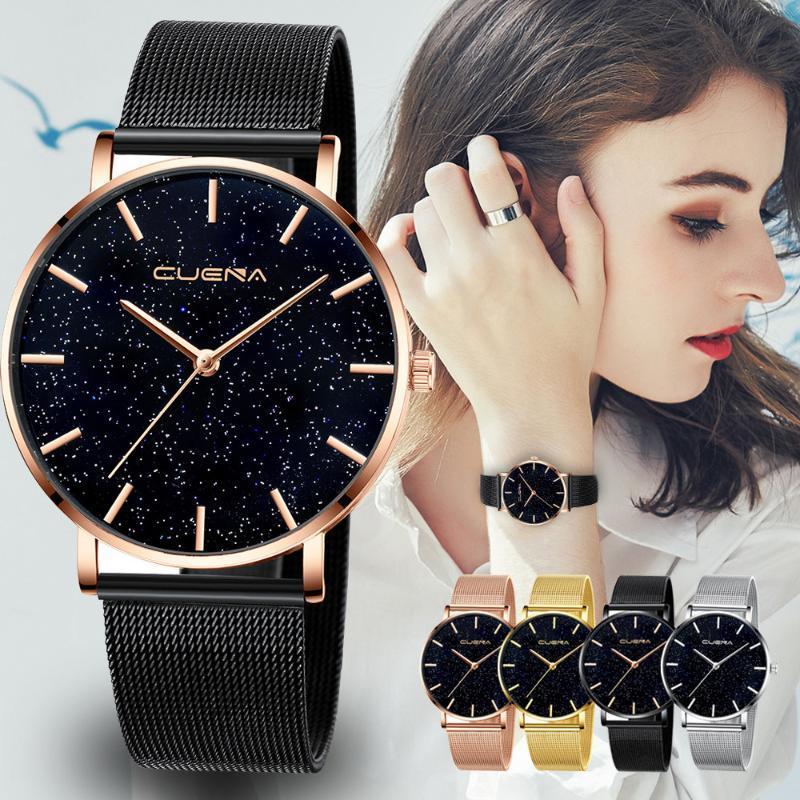 NO.2 reloj cielo estrellado Dial mujeres relojes de la pulsera magnética mujer reloj inoxidable