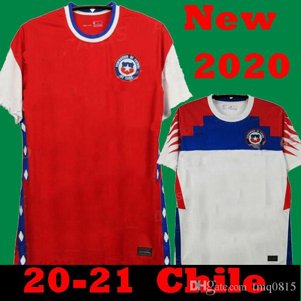 Nuevo 2020 Chile Jerseys de fútbol 2021 Chile Home Red Away White Football Shirts Alexis Vidal Vargas MEDEL COPA AMÉRICA Camiseta de Fútbol