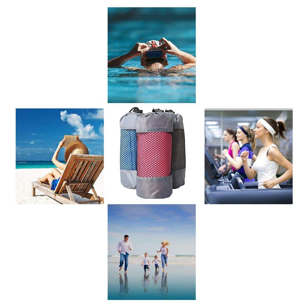 Tragbare Größe Freien schnell trocknend Spielraum-Tuch Compact Solid Color Mikrofaser Handtuch für Camping Sport-Gymnastik-Schwimmen
