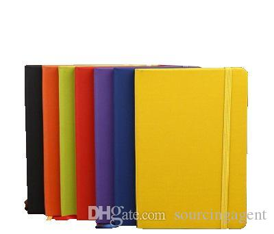 Classic Notebook Hardcover Notebook A5 Costom Design College Ruled PU Leather with Pocket Elastic Closure Banded 13.8*20.7