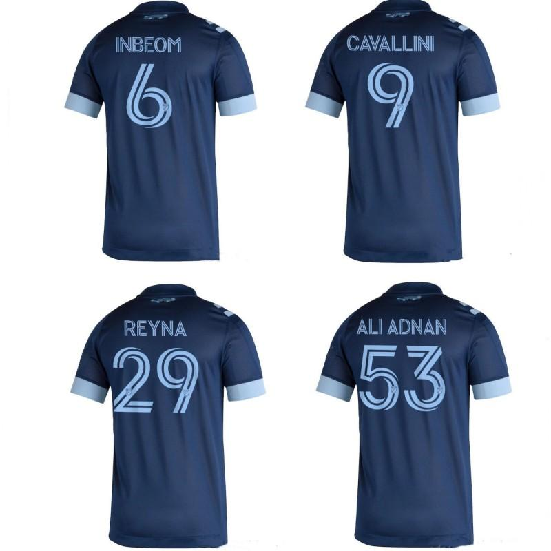 2020 Vancouver Whitecaps jérseis INBEOM CAVALLINI REYNA ALI Adnan Futebol crianças homens camisa de futebol Fora camisa