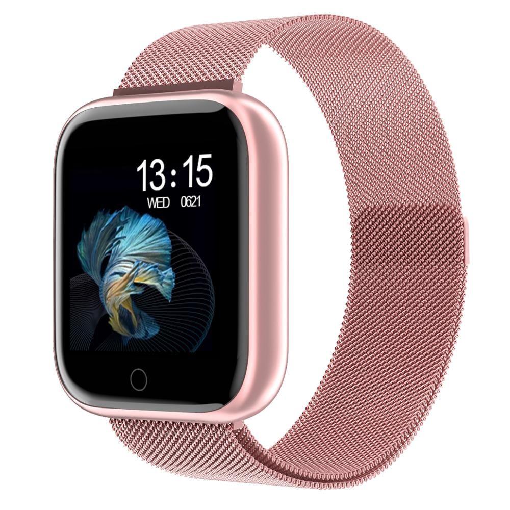 2020 المرأة الجديدة للماء الذكية ووتش t80 بلوتوث smartwatch لابل اي فون xiaomi رصد معدل ضربات القلب اللياقة تعقب