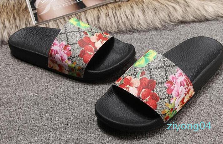 Europ Lüks Slayt Yaz Moda Geniş Düz Kaygan ile Kalın Sandalet Terlik Bay Bayan Sandalet Tasarımcı Ayakkabı Terlikler Slipper36-45 Z04