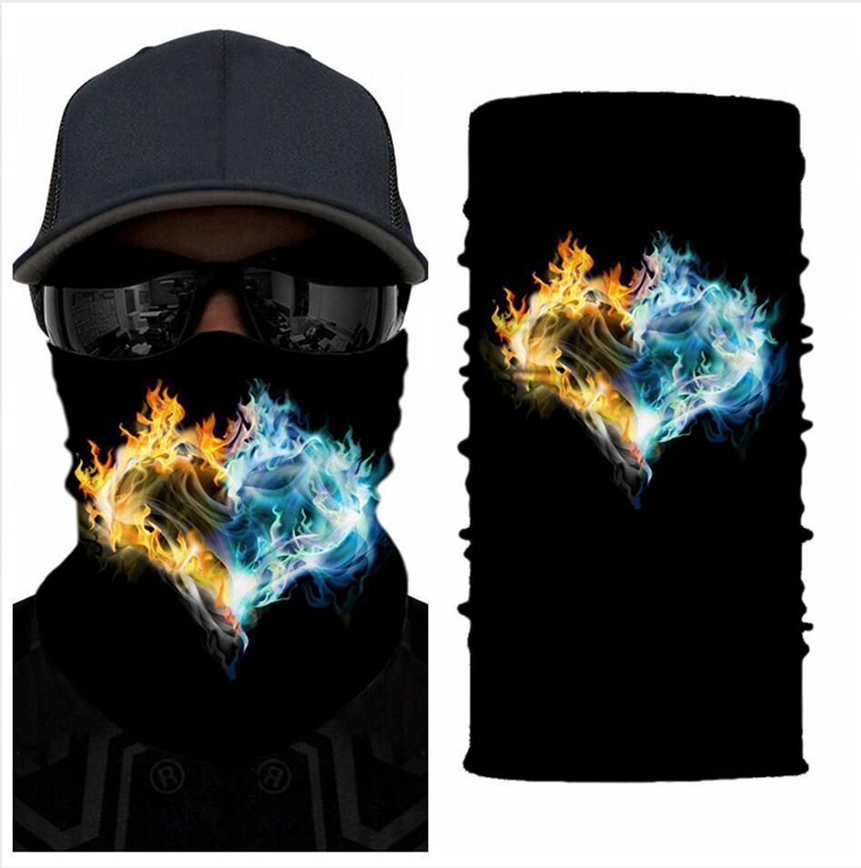 Outdoor senza saldatura sciarpa magica Maschera per il viso maschere in bicicletta equitazione Warm tubolare Neckerchie unisex multifunzione maschere facciali LJJP81