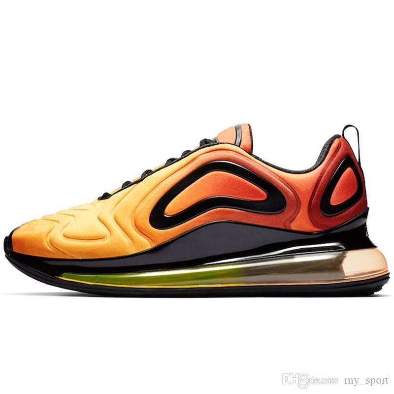 Acquista Nike Air Max 720 Off White Flyknit Utility Desert Northern Lights Day Night Nero Rosso Sport Shoes Designer Sneakers Trainers 36 45 A $53.27