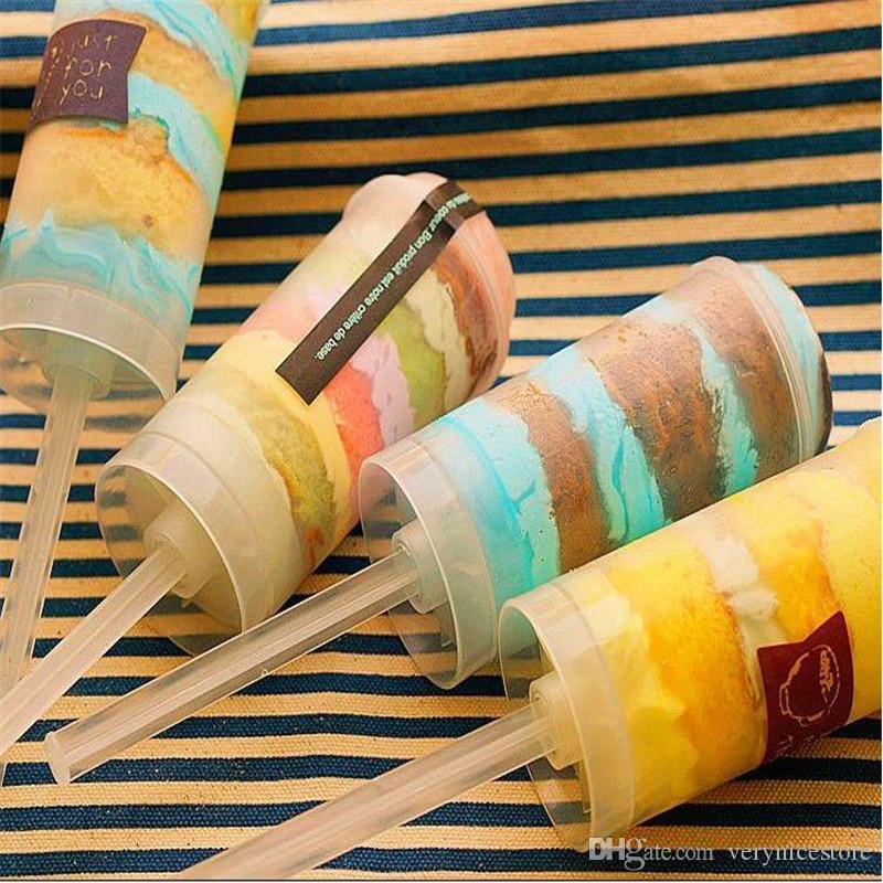 Plastic Food Grade Push Up Push Drum Circular DIY Baking Supplies Bake Mold Propeller Food Grade Hot Sale Containers Push Cake Pop Dessert