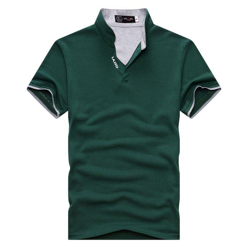EU Размер сплошной цвет с коротким рукавом Мужская рубашка