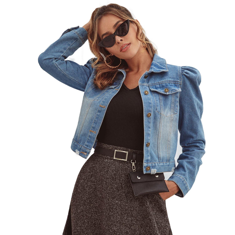 재킷 새로운 스타일 데님 자켓 여성 플러스 사이즈 느슨한 청바지 자켓 여성 씻어 데님 재킷 여성 코트 아시아 크기 여자