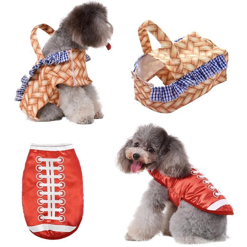 Traje de perro canasta de mano, disfraces para mascotas de Halloween Cosplay para el perrito, divertida del partido Vestido Accesorios hasta