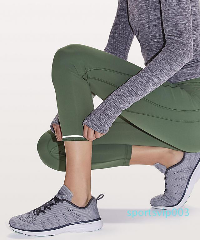 """2019 Saat için Ter Mahsul 23"""" Pantolon Kadınlar Yoga koşucu Pantolon Yüksek Bel Kırpılmış Pantolon Tayt Lu   u   emon Spor Pantolon"""